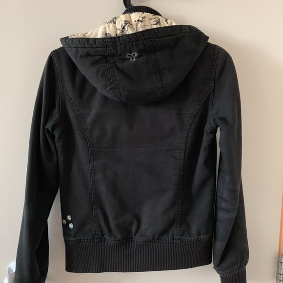 TNA bomber jacket with removable hood, size XS
